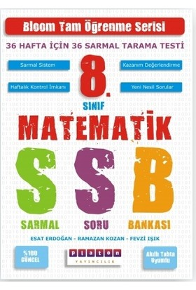 Platon Yayınları Matematik 8. Sınıf Sarmal Soru Bankası 36 Hafta 36 Sarmal Tarama Testi