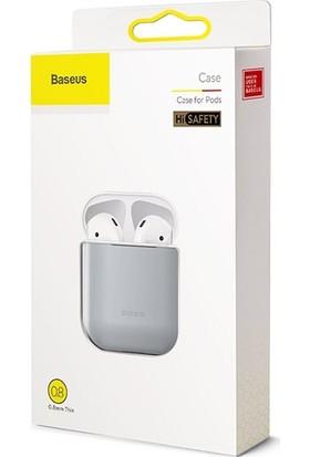 Baseus WIAPPOD-BZ0G Super Thin Silica Gel AirPods 1/2 Ultra İnce Soft Silikon Kılıf Gri