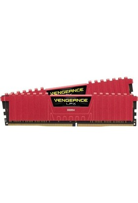 Corsair Vengeance Red LPX 32GB(2X16GB) DDR4 3200MHz CL16 Ram CMK32GX4M2B3200C16R