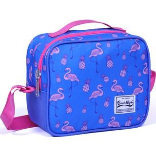 Coral High Mor Renkli Flamingo Desenli Beslenme Çantası - 12849