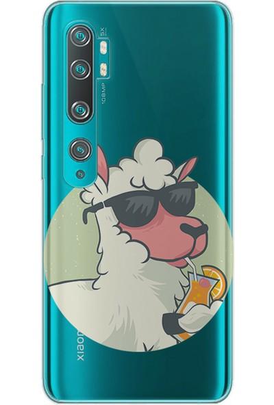 Kılıfland Xiaomi Mi Note 10 Kılıf Silikon Resimli Kapak Sheep Lemon - 501