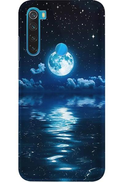 Kılıfland Xiaomi Redmi Note 8T Kılıf Silikon Resimli Kapak Night Moon - 1133