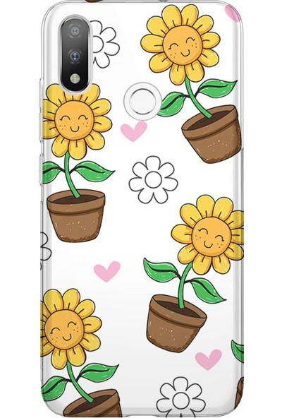 Kılıfland Casper Via A3 Kılıf Silikon Desenli Resimli Lüx Kapak Kapak Yellow Flower - 903
