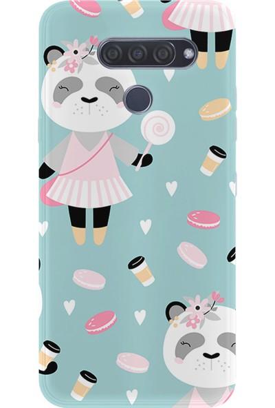Kılıfland Lg Q60 Kılıf Silikon Desenli Resimli Lüx Kapak Sugar Panda - 948
