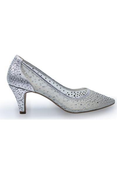 BB Shoes Sindy Abiye Düğün Ayakkabısı Lame Renk Kısa Model