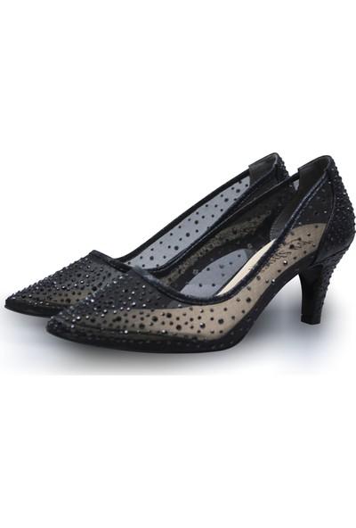 BB Shoes Sindy Abiye Düğün Ayakkabısı Siyah Renk Kısa Model