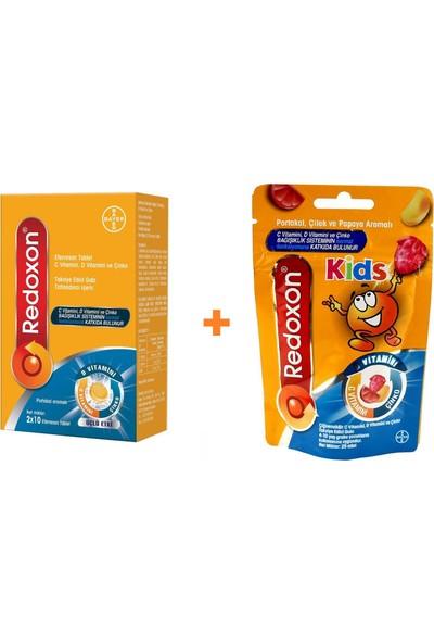 Redoxon 3'lü Etki Efervesan 20 Tablet + Redoxon Kids Çiğnenebilir 25 Tablet