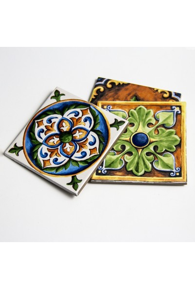 İkbal Çini Seramik Karo Çini 10 cm x 10 cm