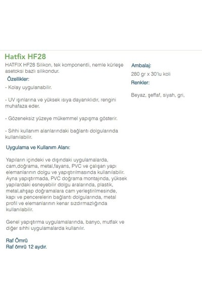 NST Hatfix Silikon Şeffaf 280 gr