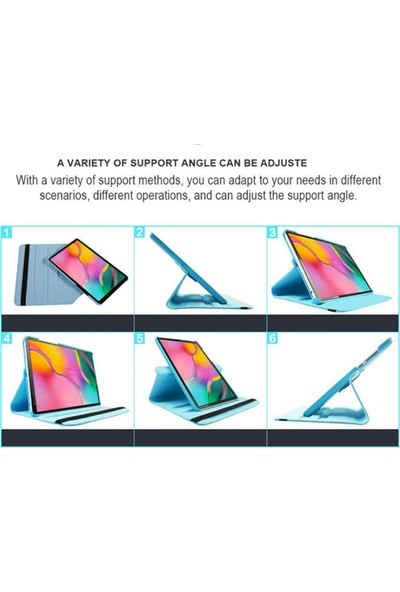 "Omelo Samsung Note P600 P601 P602 P605Kılıf Uyku Modlu 360° Dönerli Standlı 10.1"" Siyah"