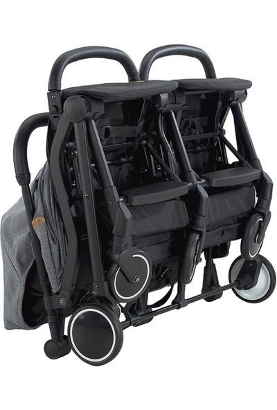 Baby2Go 2025 Moly İkiz Bebek Arabası - Gri