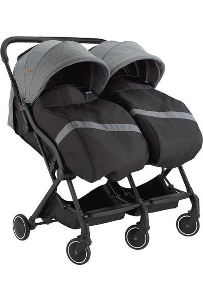 Baby2Go 2025 Moly İkiz Bebek Arabası - Kırmızı