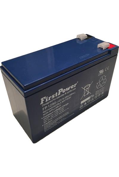 First Power 12V 9AH Kuru Bakımsız Akü
