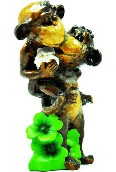 Pologift Polyester Dekoratif Sırtında Taşıyan Maymun Obje