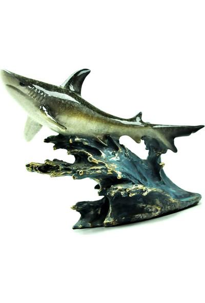 Pologift Polyester Dekoratif Kaya Üstü Tekli Köpek Balığı Obje