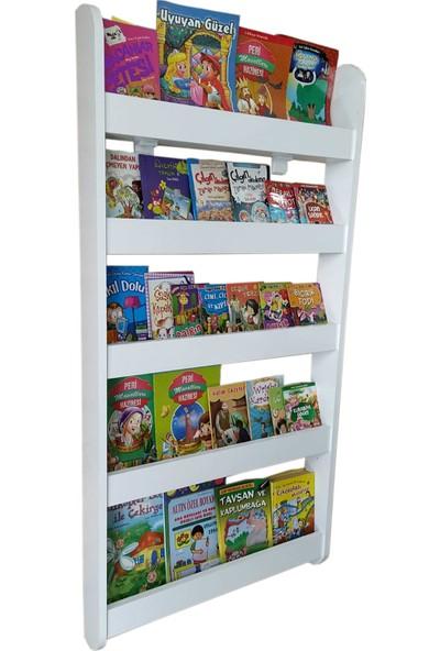Emdief Home Montessori Kitaplık 5 Raflı Çocuk Odası Kitaplığı