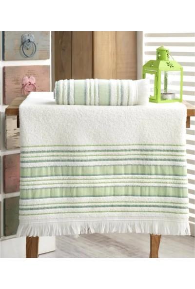 Louis Marie Banyo Havlu Takımı 70 x 140 cm ve 50 x 90 cm Fıstık Yeşil