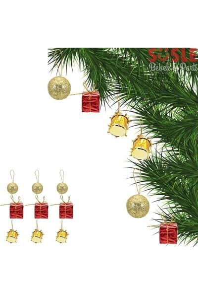 Süsle Bebek Parti Yılbaşı Ağaç Süsleme Seti 9'lu