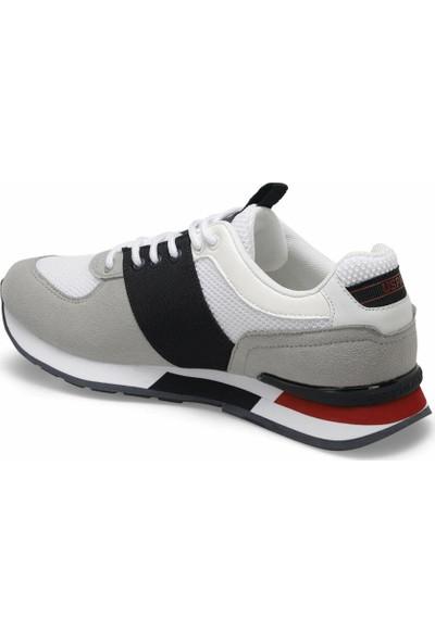 U.S. Polo Assn. Erkek Spor Ayakkabı Bentley Beyaz-Gri-Laci