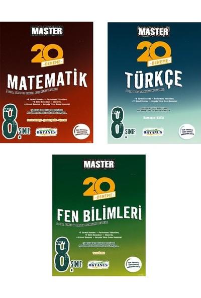 Okyanus Yayınları 8.Sınıf Master Türkçe Matematik Fen Bilimleri 3'lü Deneme Seti