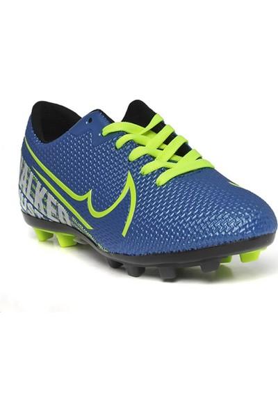 Walked Mavi Krampon Erkek Çocuk Futbol Ayakkabısı 604