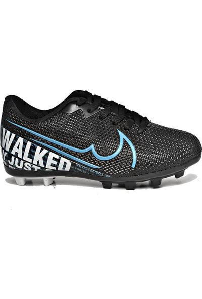 Walked Siyah Krampon Erkek Çocuk Futbol Ayakkabısı 604