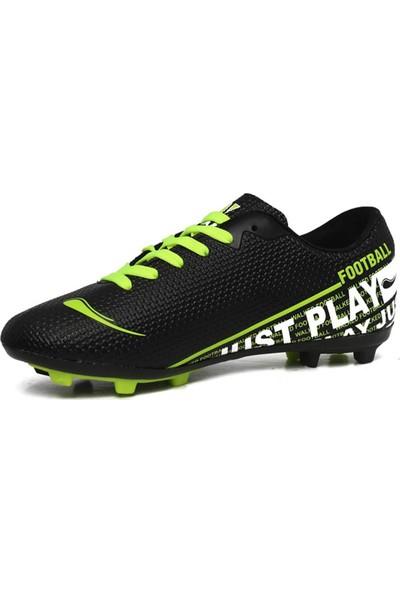 Walked Siyah Krampon Erkek Çocuk Futbol Ayakkabısı Y705