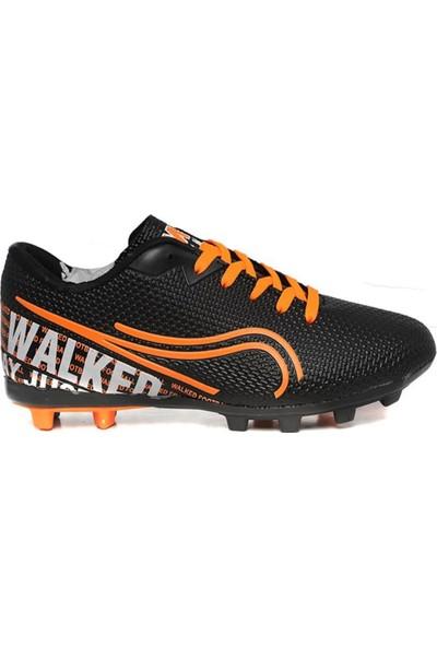 Walked Siyah Krampon Erkek Çocuk Futbol Ayakkabısı T705