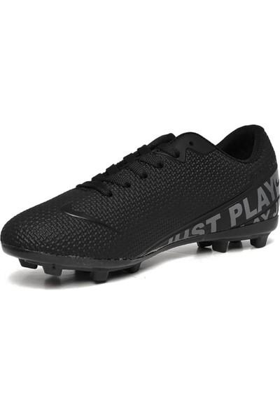 Walked Siyah Krampon Erkek Çocuk Futbol Ayakkabısı S604