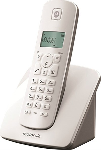 Motorola E201 Kablosuz Dect Telsiz Telefon Beyaz