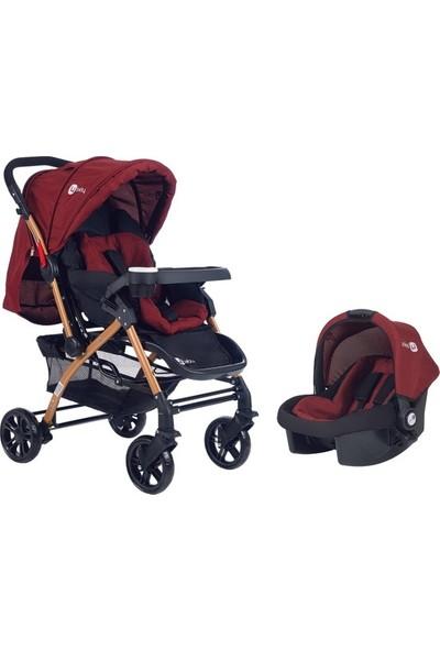 4 Baby Active Travel Bebek Arabası - Bordo