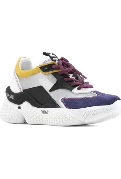 İlvi Beliz Kadın Ayakkabı Mor Süet - Beyaz Deri - Siyah Deri - Sarı Deri