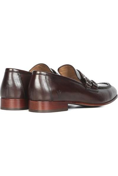İlvi Carrie Erkek Makosen Ayakkabı Kahve Alkollü