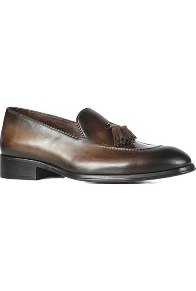 İlvi Clinton Erkek Makosen Ayakkabı Kahve Crast
