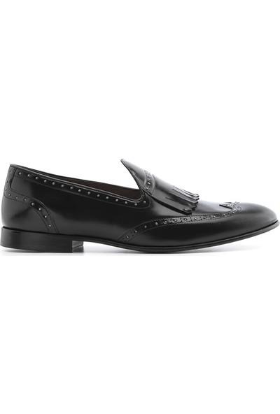 İlvi Gerald Erkek Makosen Ayakkabı Siyah Deri