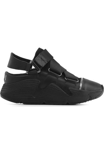 İlvi Migos Kadın Ayakkabı Siyah Deri