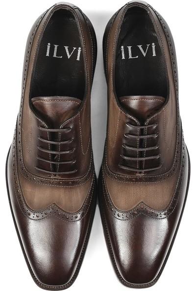 İlvi Odetta Erkek Klasik Ayakkabı Kahve Crast