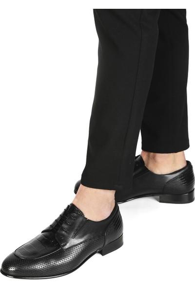 İlvi Odri Erkek Klasik Ayakkabı Siyah Antik