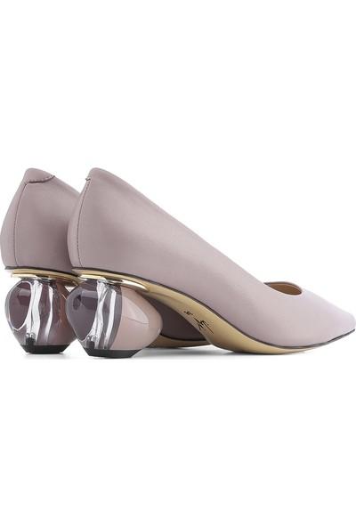 İlvi Ursula Kadın Topuklu Ayakkabı Açık Lila Deri