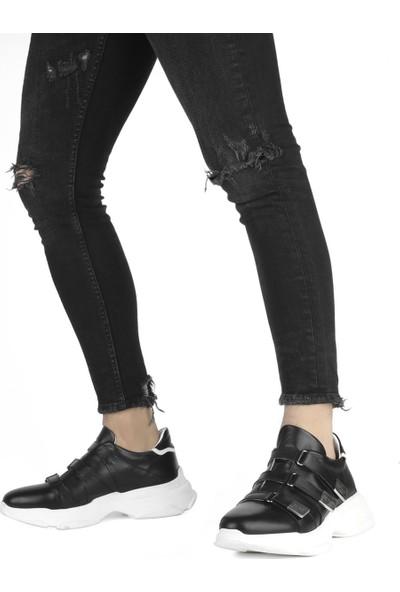 İlvi Violetta Erkek Ayakkabı Siyah Napa