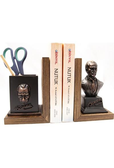 Gift Garden Atatürk Biblo Kalemlik Kitap Tutucu