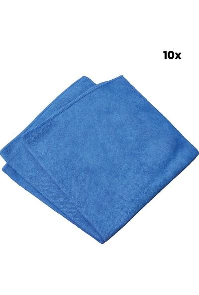Soft Mikrofiber Mavi Temizlik Bezi 30 x 40 cm 10'lu Paket