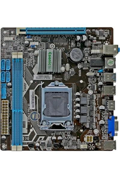 Esonic H81JEL 4.nesil Soket 1150 Pin H81 Chipset Ddr3 1600MHZ Anakart