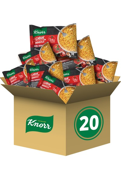 Knorr Acılı Domatesli Çabuk Noodle 20'li