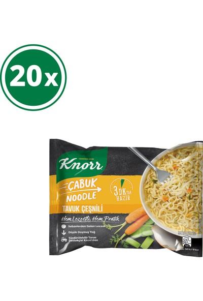 Knorr Tavuk Çeşnili Çabuk Noodle 20'li