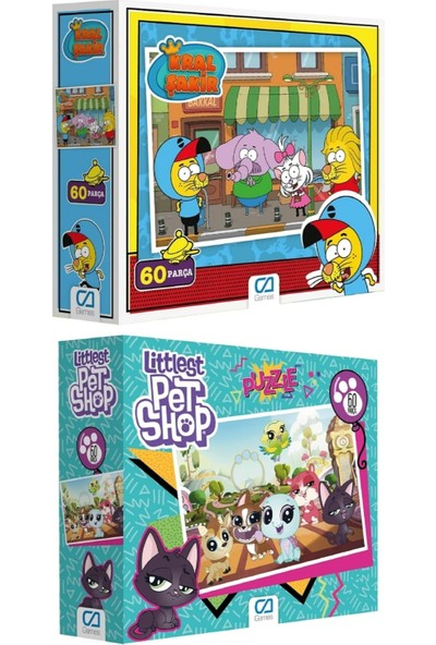 Ca Games 2'li 60 Parça Puzzle Set (5095-5097)