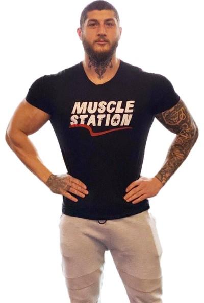 Musclestation Toughman Workout Fitness Tshirt M