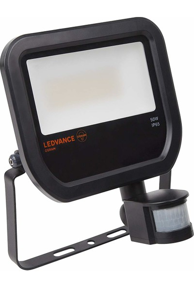 Osram Ledvance Floodlight Siyah Kasa 50 W Sensörlü LED Projektör 3000K Sarı Işık
