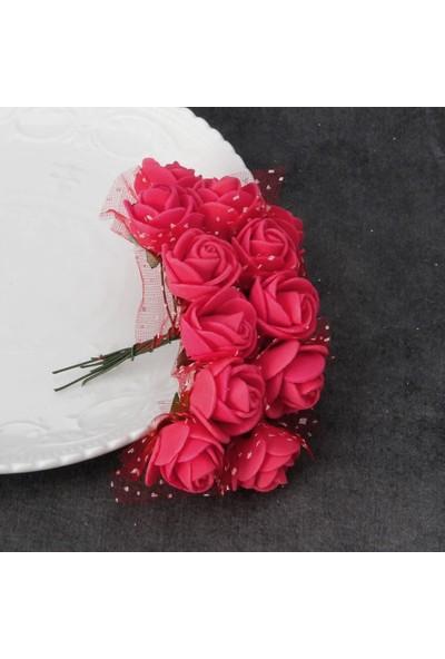 Havana Solmayan Gül Yapay Köpük Mini Çiçek 144 Adet 2 cm