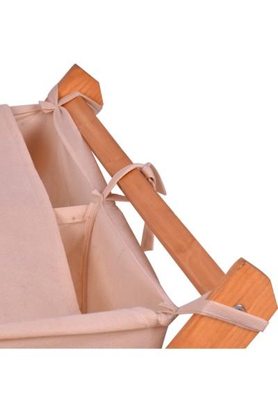 Ahşap Şehri Ahsap Katlanabilir Çamaşır ve Oyuncak Sepeti